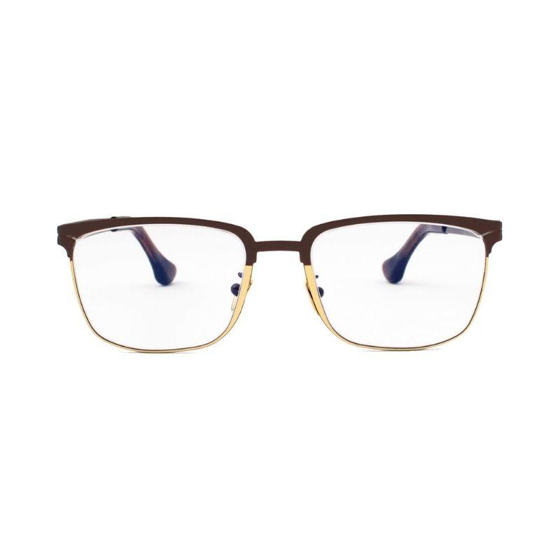 occhiale da vista pugnale modello equilibrato colore marrone