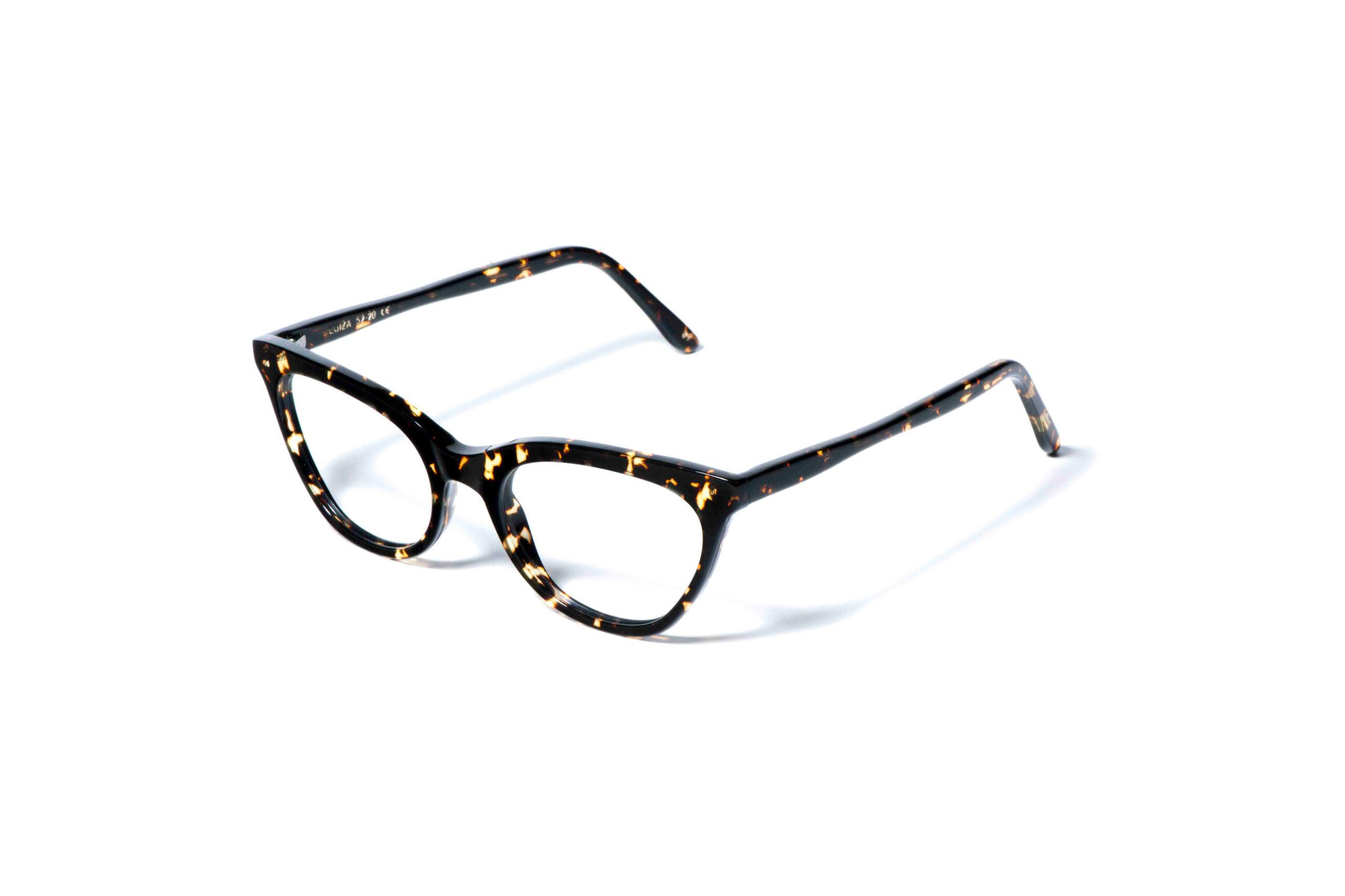 occhiale da vista lgr modello luiza colore havana scuro