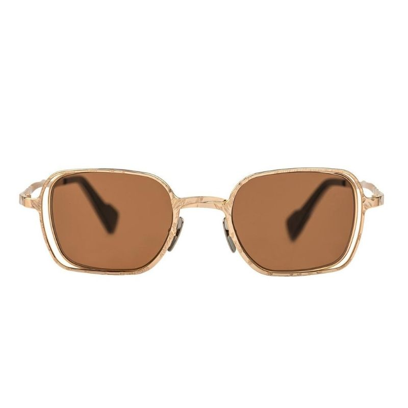 occhiale da sole kuboraum modello h22 colore oro