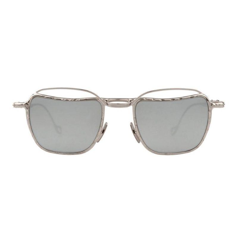 occhiale da sole kuboraum modello h71 colore rgento