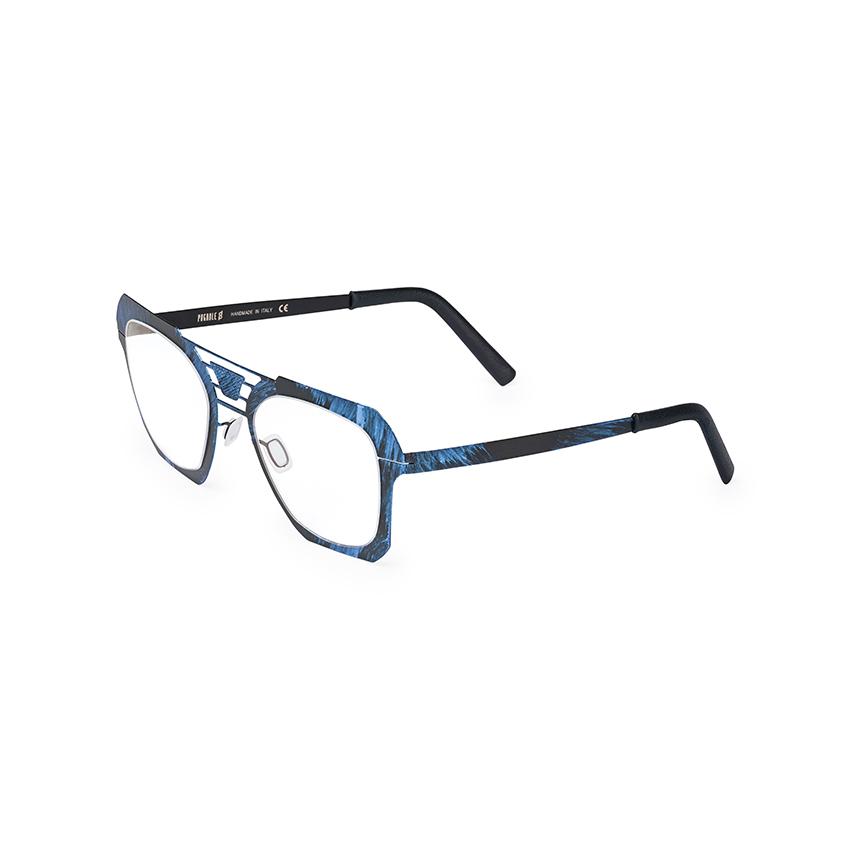 occhiale da vista pugnale modello carattere colore blu