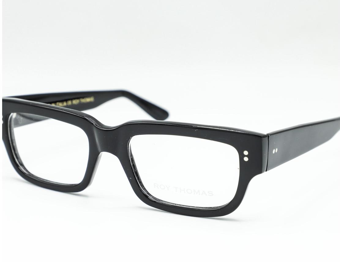 roy thomas occhiale da vista modello rocco colore nero lucido