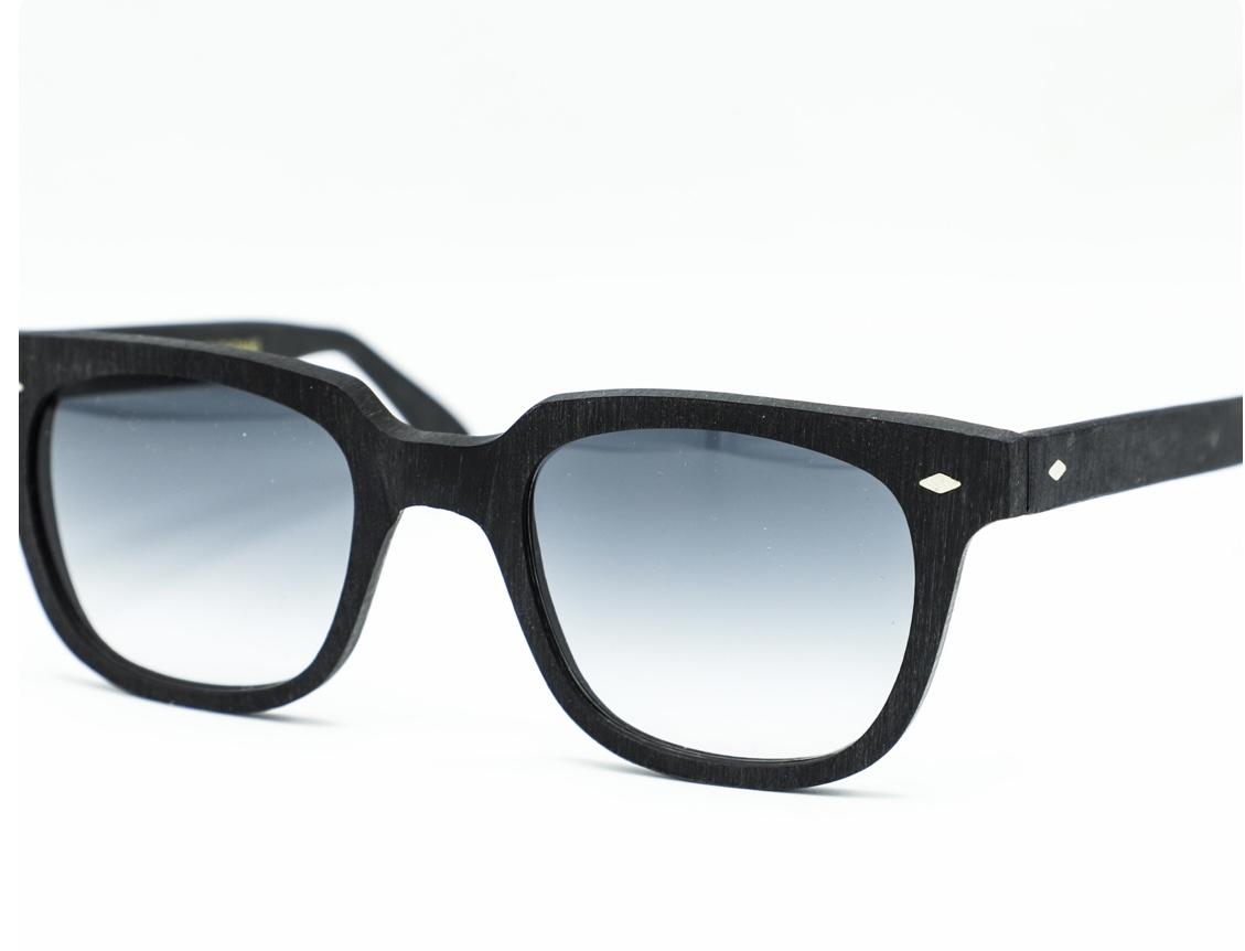 roy thomas occhiale da sole modello pino nero grezzo